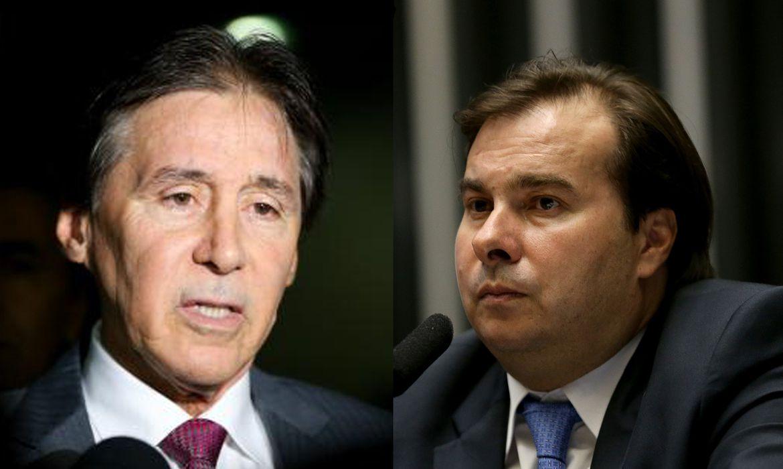 Os presidentes do Senado, Eunício Oliveira, e da Câmara, Rodrigo Maia (Arquivo/Agência Brasil)