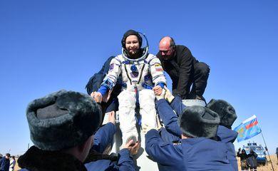 Soyuz MS-18 space capsule lands near Zhezkazgan