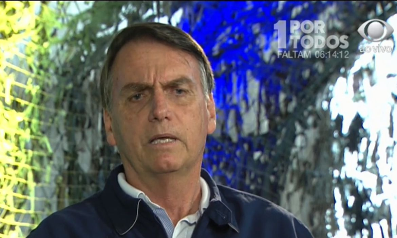 O presidente eleito, Jair Bolsonaro, concede entrevista a José Luiz Datena.