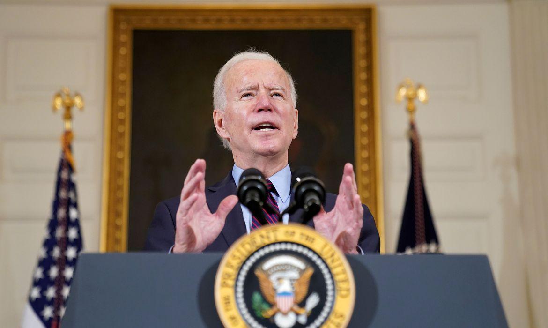 Presidente dos EUA, Joe Biden, na Casa Branca