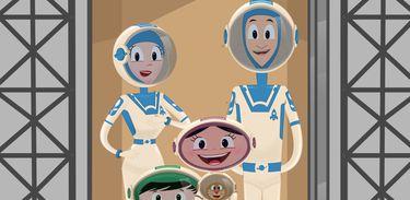Luna vai para o espaço com a sua família!