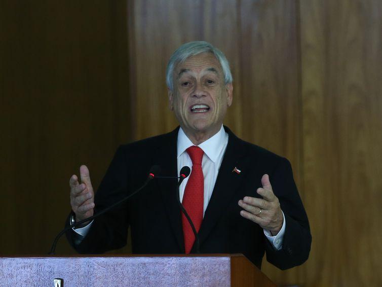 Temer recebe o presidente do Chile, Sebastián Piñera