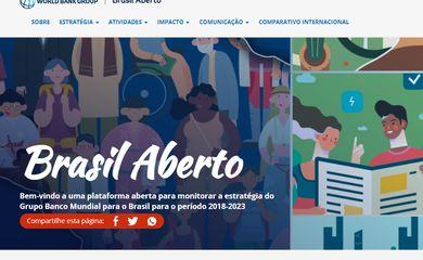 Banco Mundial lança plataforma Brasil Aberto