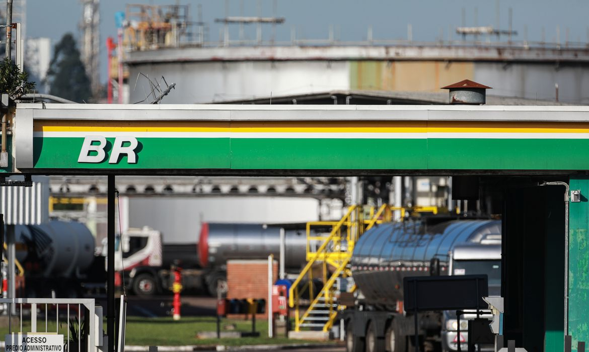 The entrance of the Petrobras Alberto Pasqualini Refinery is seen in Canoas