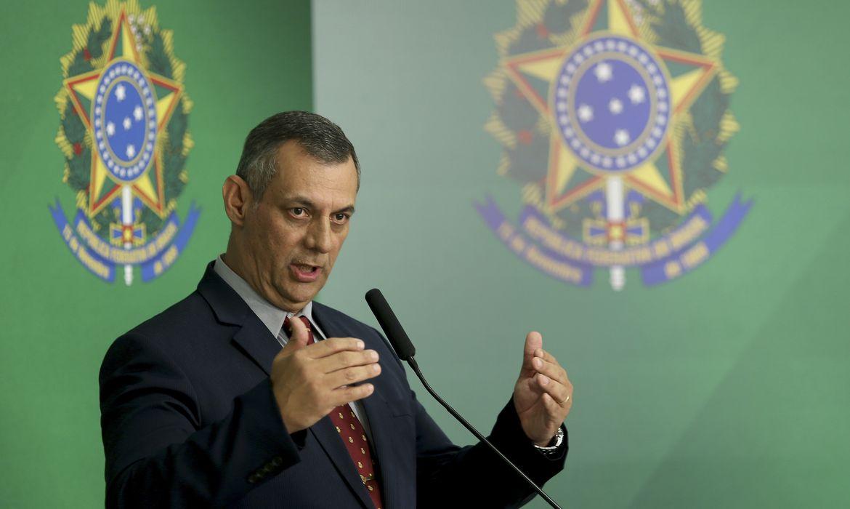 O porta-voz da Presidência, Otávio  Rêgo Barros, durante briefing, no Palácio do Planalto.
