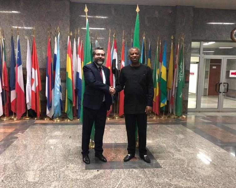 visita do chanceler Ernesto Araújo à Nigéria