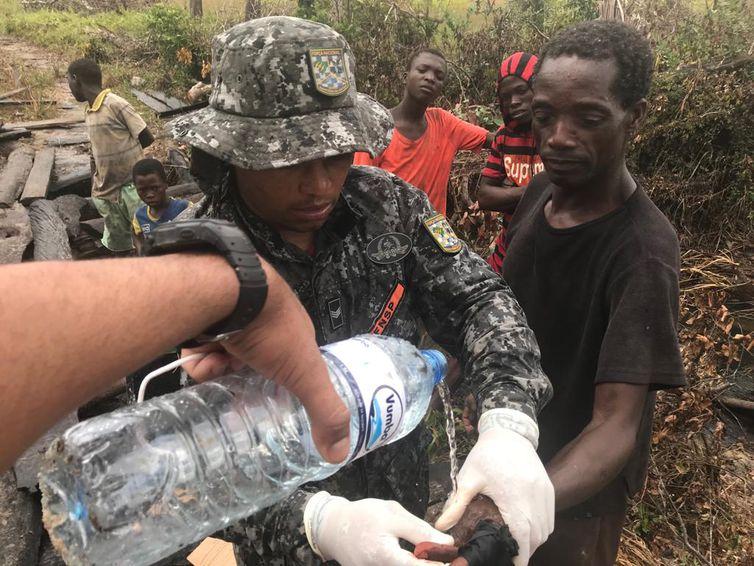 Desde o dia 1º de abril, 20 bombeiros da Força Nacional integram a missão humanitária do Brasil