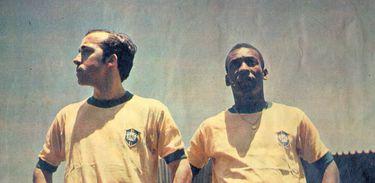 Tostão e Pelé jogam juntos na Copa de 1970