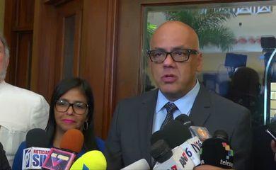 Vice-presidente de Comunicação, Cultura e Turismo da Venezuela, Jorge Rodríguez
