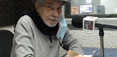 Pedro Paulo Rangel gravando o programa Torna Viagem