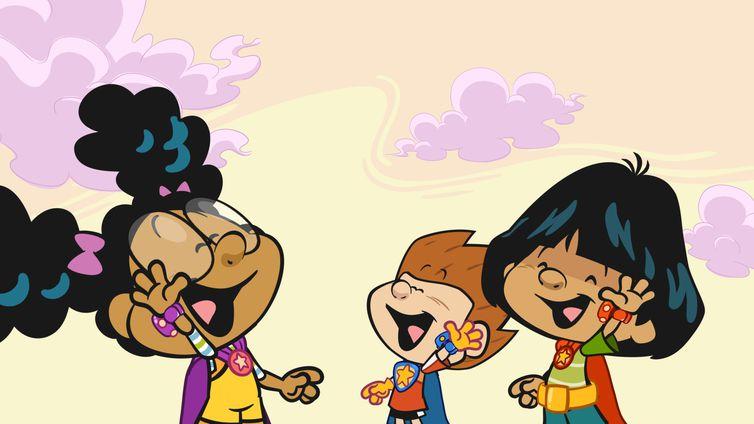 Lili, Matt e Yuri são super-heróis