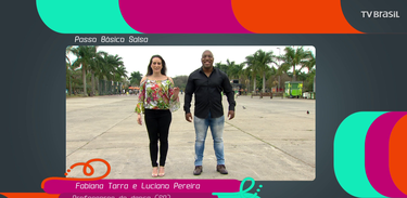 Fabiana Terra (SP) e Luciano Pereira (SP) ensinam o passo básico do ritmo