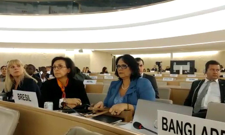 ministra da Família, Mulher e Direitos Humanos, Damares Alves,  43ª Sessão do Conselho de Direitos Humanos das Nações Unidas (ONU)