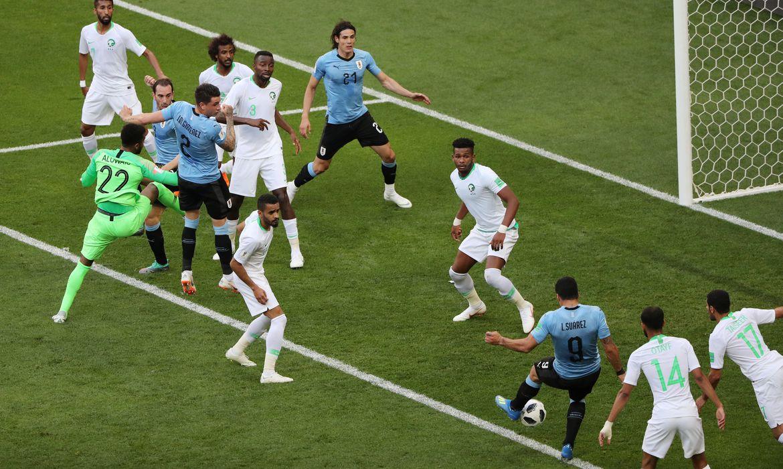 Copa 2018, Uruguai e Arábia Saudita, Gol     REUTERS/Marcos Brindicci