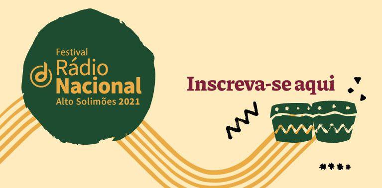 Peça de divulgação do Festival de Música da Nacional do Alto Solimões - inscrições abertas
