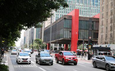 Fachada do Museu de arte de São Paulo Assis Chateaubriand - Masp, na Avenida Paulista.