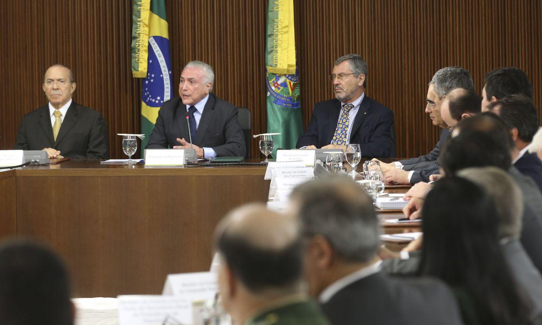 Brasília - Presidente da República, Michel Temer, durante reunião ministerial (Antonio Cruz/Agência Brasil)