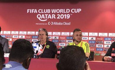 Rafinha e Mister concedem entrevista coletiva antes da estreia do Flamengo no Mundial de Clubes da FIFA.