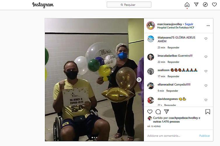 Medalhista olímpico, Márcio Araújo concluirá em casa o tratamento contra pneumonia-Instagran/ Márcio Araújo