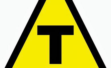 Símbolo dos produtos transgênicos (Divulgação/Associação Mineira de Defesa do Ambiente)