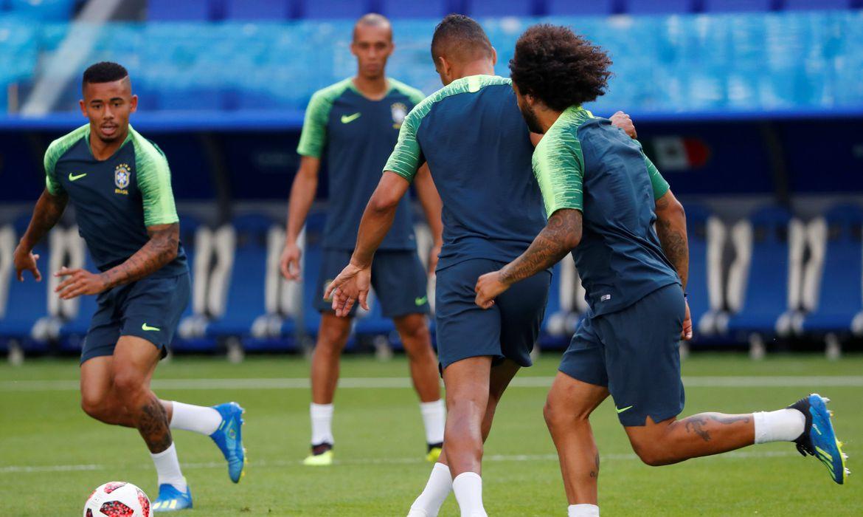 Copa 2018: A seleção brasileira treinou neste domingo na Cosmos Arena, na cidade russa de Samara, onde na segunda-feira enfrentará o México pelas oitavas de final da Copa do Mundo.