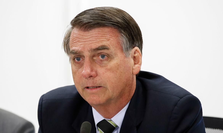 Presidente da República, Jair Bolsonaro durante Reunião do Conselho de Governo.