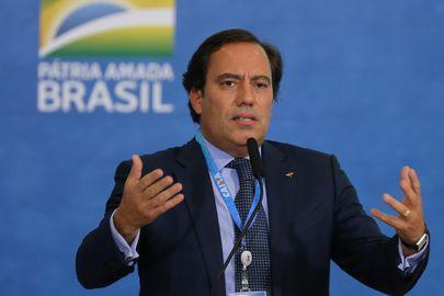O presidente da Caixa, Pedro Guimarães,  participa da solenidade Anúncios CAIXA: Ações Socioambientais e Adesão ao Programa Adote um Parque