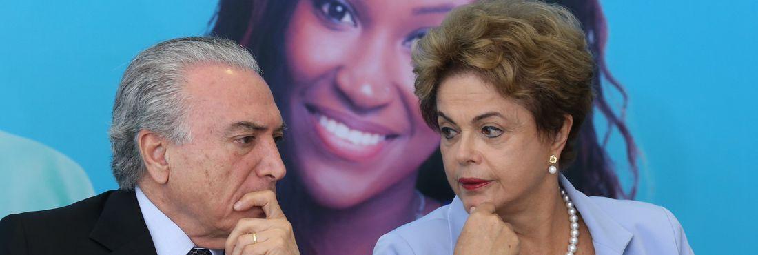 Michel Temer e Dilma Rousseff - Temer e Dilma Dilma e Temer