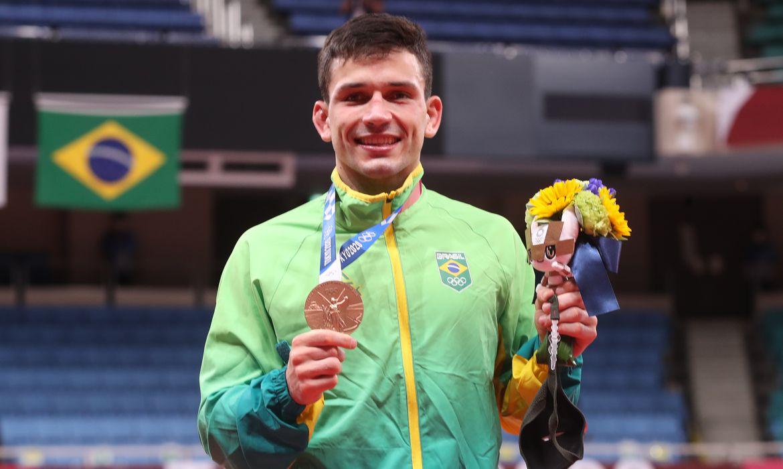 Daniel Cargnin conquistou o bronze em Tóquio.