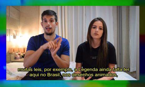 O canal dos irmãos Andrei e Tainá Borges comentam assuntos do dia a dia dos surdos e cobram mais acessibilidade