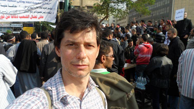 Luís Nachbin em viagem ao Egito, em 2011, durante a chamada primavera árabe
