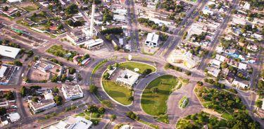 Boa Vista, vista aérea do centro da cidade