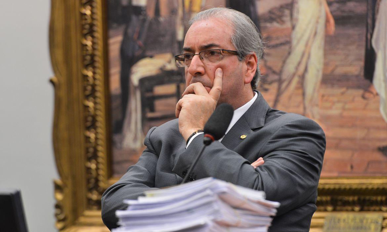 Brasília - O deputado afastado Eduardo Cunha (PMDB-RJ) durante reunião da CCJ da Câmara que analisa recurso sobre sua cassação aprovada no Conselho de Ética (Antonio Cruz/Agência Brasil)