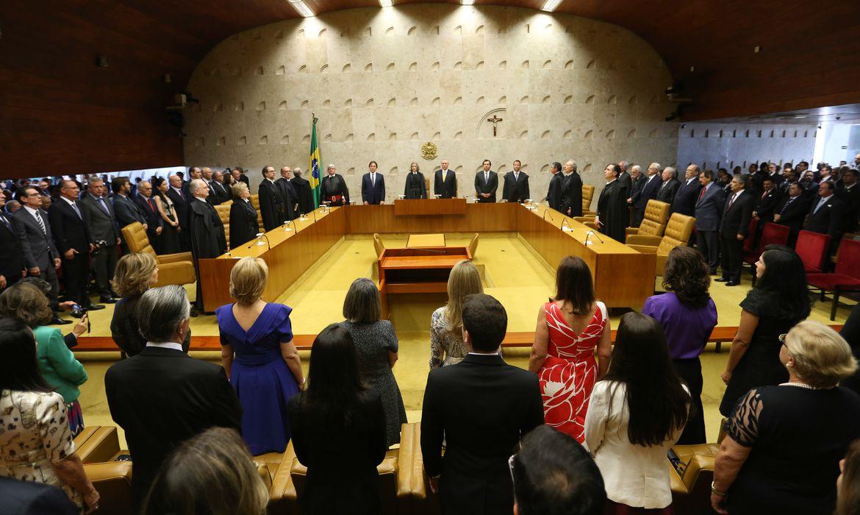 Brasília - O jurista Alexandre de Moraes toma posse no cargo de ministro do Supremo Tribunal Federal (STF). Moraes passa a ocupar a cadeira deixada por Teori Zavascki, morto em acidente aéreo (Fabio Rodrigues Pozzebom/Agência Brasil)