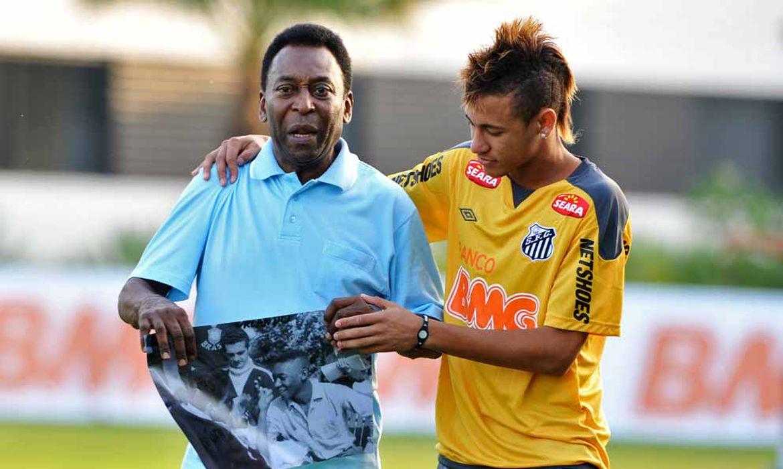 pelé, santos, neymar