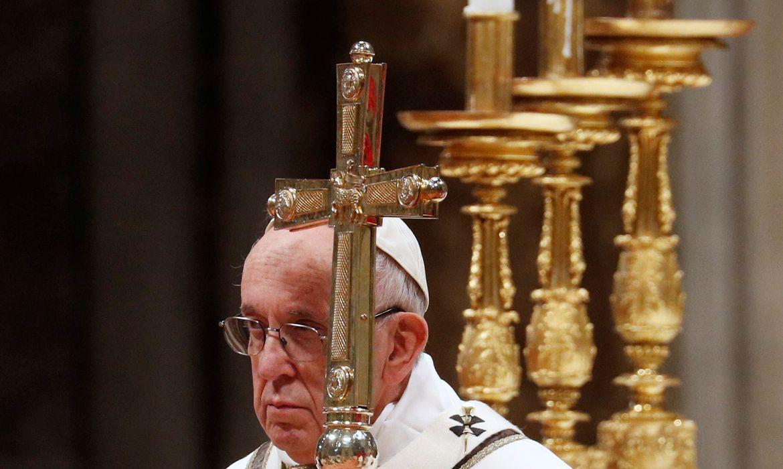 Papa Francisco na Basílica de São Pedro, no Vaticano.