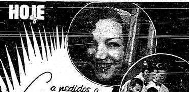 Carmen Miranda no cartaz do Cassino da Urca