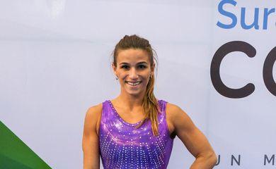 Treino da seleção brasileira de ginástica artística durante os Jogos Sul-Americanos Cochabamba 2018
