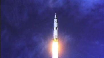 A missão Apollo 11 partiu rumo à lua no dia 16 de julho de 1969