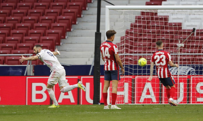 La Liga Santander - Atletico Madrid v Real Madrid -  Real empata no final com gol de Benzem, em 07/03/2021