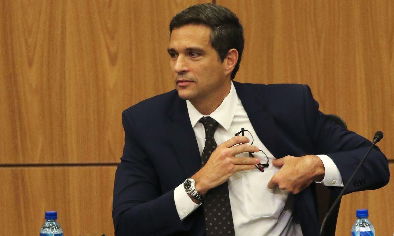 O novo presidente do Banco Central (BC), Roberto Campos Neto, durante cerimônia de transmissão de cargo.