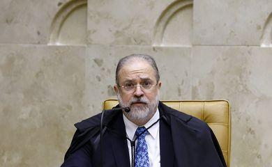 O procurador-geral da República, Antônio Augusto Aras, participa da sessão solene de abertura do Ano Judiciário 2020