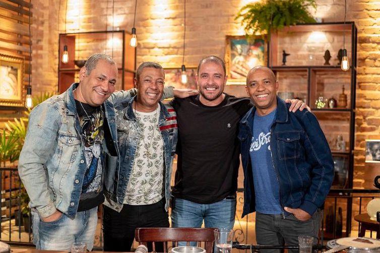 Diogo Nogueira recebe Salgadinho, Márcio Art e Chrigor, os Amigos do Pagode 90