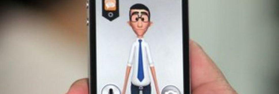 O avatar Hugo realiza a tradução da linguagem sonora ou escrita para a linguagem do celular