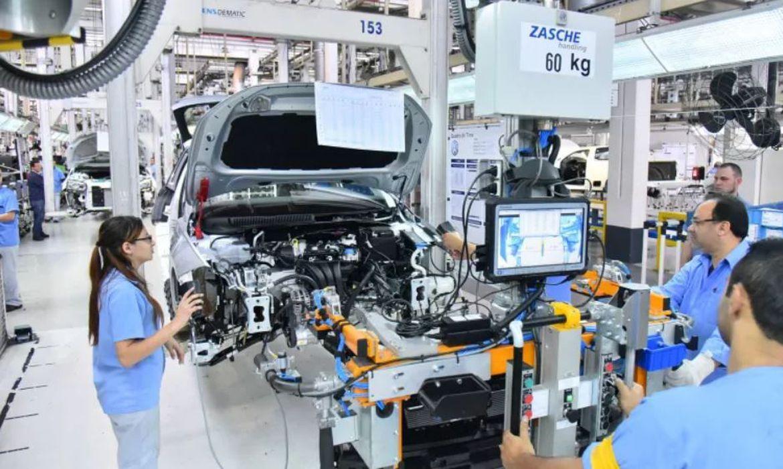 Fábrica da Volkswagen no Brasil.