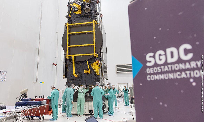 Satélite para defesa e comunicações será lançado na Guiana Francesa - Foto Divulgação/Arianespace