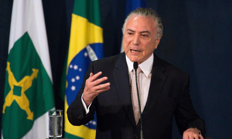 Brasília - O presidente Michel Temer durante cerimônia de posse da nova procuradora-geral da república, Raquel Dodge   (Marcelo Camargo/Agência Brasil)