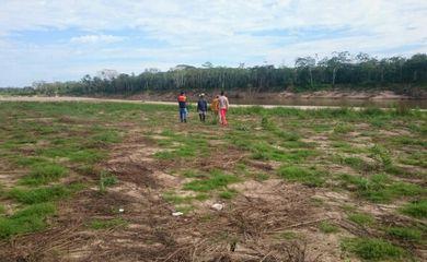 Baixo nível dos rios coloca 11 municípios do Amazonas em estado de atenção