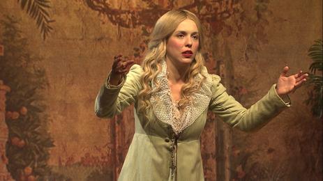 A atriz Sara Antunes dá vida aos dilemas da  Imperatriz Leopoldina