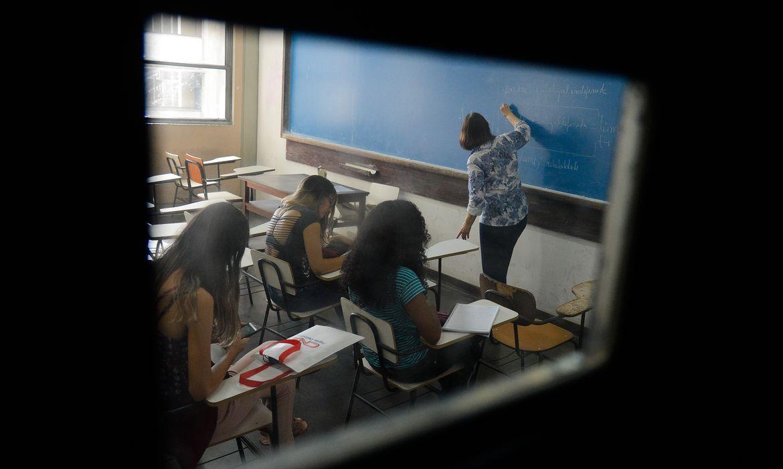 Rio de Janeiro - Alunos participam de aula na Universidade Estadual do Rio de Janeiro (Tânia Rêgo/Agência Brasil)